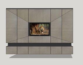 TV set living 3D model