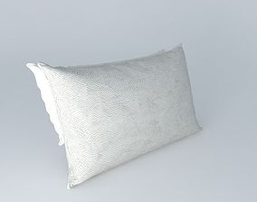 3D model Realistic Bed Pillows