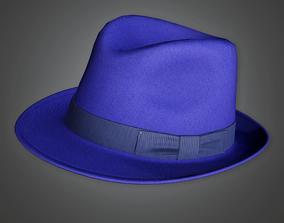 HAT - Designer Fedora - PBR Game Ready 3D model