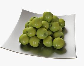 apples 3D model plate