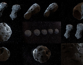 3D model Detailed asteroids high-poly set