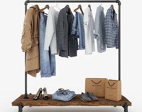 3D Casual Womens and Mens Wardrobe furniture-set