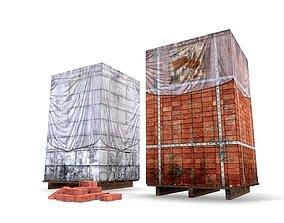 3D model Block Brick pallet