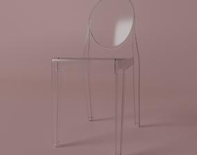transparent 3D model Ghost Chair