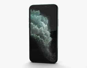 3D model Apple iPhone 11 Pro Midnight Green