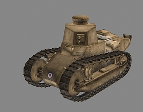Renault FT 17 French light tank 1917 3D model