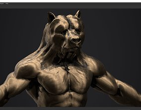 bear man low poly PBR 3D model