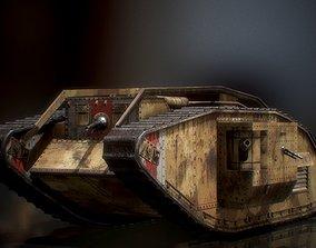 3D model Landship WWI Heavy Tank