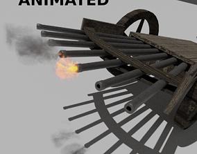 3D model Machine Gun by Leonardo Da Vinci