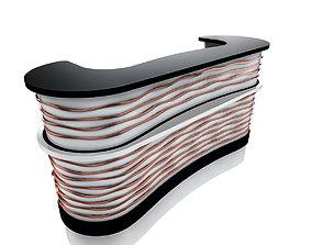 3D model metal reception desk 1
