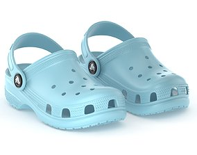 3D model Crocs Classic Clog Ice Blue