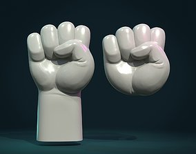 Fist Hand Relief 3D print model