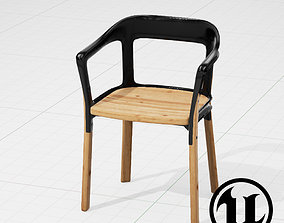 3D model Magis Steelwood Chair UE4