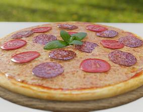 Pizza 3D asset VR / AR ready