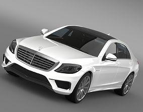 Mercedes Benz S 63 AMG Lang V222 2016 3D model