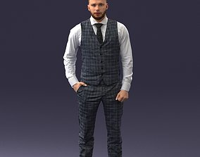 Businessman in jacket 0709-4 3D Print Ready