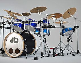Drum set 3D instrument