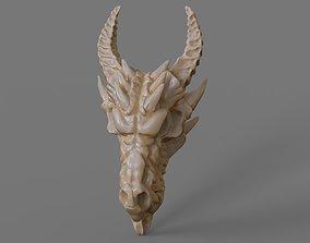 fantasy Dragon skull 3D print model