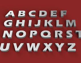 ERASBOLD font uppercase and lowercase 3D Letters STL FILE
