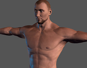 animated Animated Naked Man-Rigged 3d game