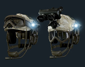 3D asset Military Helmet 02 Game Ready