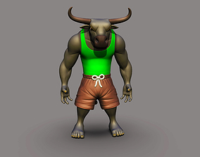 toys Angry Bull 3D printable Model
