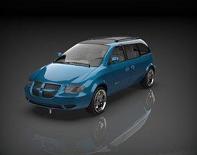 3D asset dodge caravan 2003