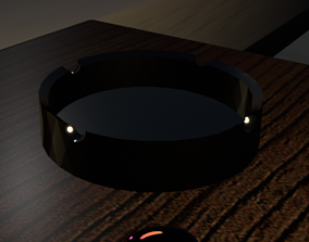 3D model game-ready Ash Tray