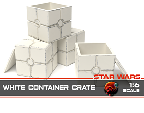 3D print model Star Wars white container crate 1-6