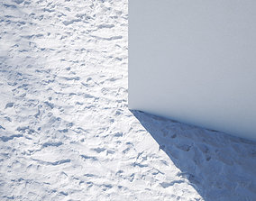 3D model Snow with footsteps texture