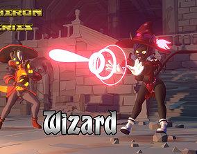 Acheron Wizard Outfit 3D asset realtime