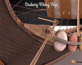 Oseberg Viking Ship Low-poly 3D model low-poly