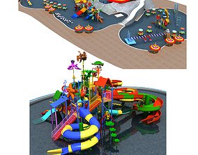 3D model Collection of Water Park