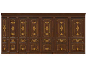 3D asset Wood panels 07