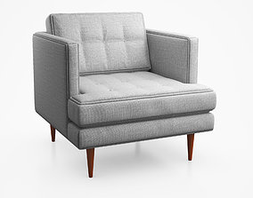 Peggy Mid Century Armchair by West Elm 3D
