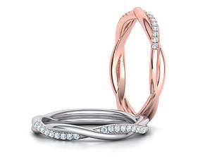 Gorgeous rope style twisted Band Ring 3dmodel jewelry