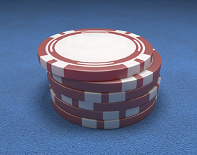 Casino Chip Red Poker Chip 3D
