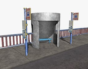 city Bus Stop 3D model