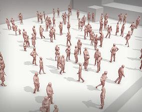 3D model Lowpoly People Crowd