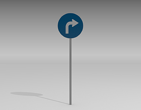 3D Turn right sign