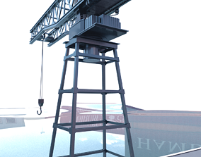Moving Container Crane 3D