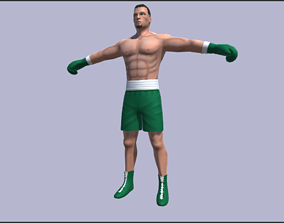 Rigged Boxer 3D model