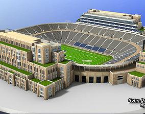 3D asset realtime Notre Dame Stadium