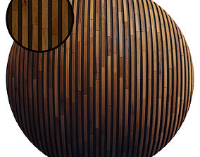 3D model 20 Striped Wood Panel Material Pack - PBR - 4