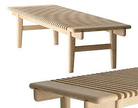 3D model Hans Wegner PP Mobler 589 bar bench