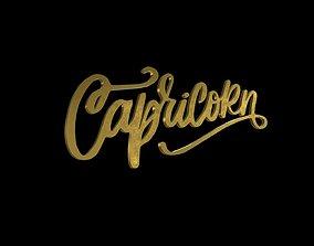 ZODI--004 Capricorn Gold 3D model