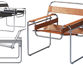 3D Wassily Chair by Marcel Breuer 4 options