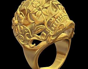 Skull ring 3D print model