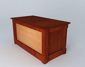 3D cabinet in mahogany