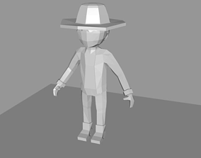 3D model Man with a hat